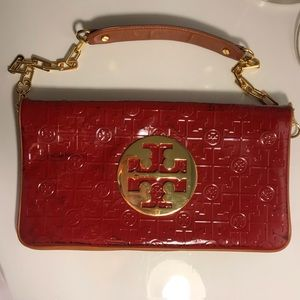 Tory Burch Red Patent Shoulder Bag